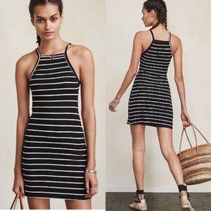 Reformation Striped Rhodes Ribbed Mini Dress XS